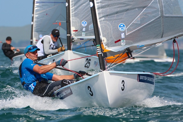 Giles Scott joint leader on day 1 of Finn Gold Cup