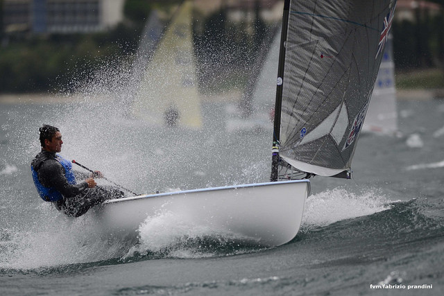 UK Champion Cornish Fourth at Malcesine Int Finn Cup.